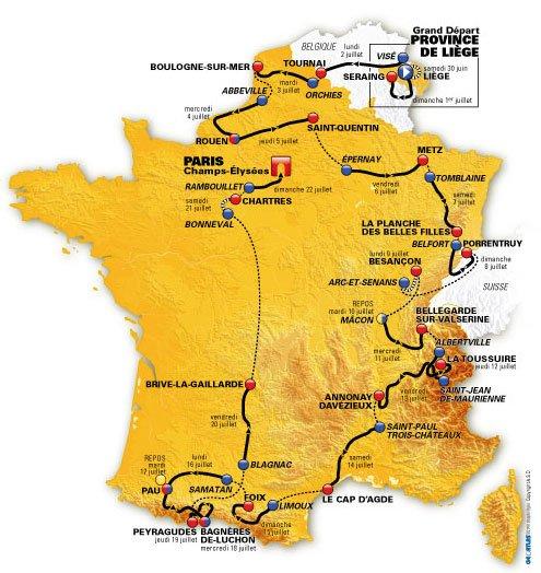 Le Tour de France, collection été 2012
