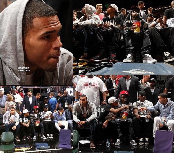 . 11 Novembre 2010 - Chris était avec Drake, Bow Wow, Lil Wayne et Birdman à un match de basket à Miami. .