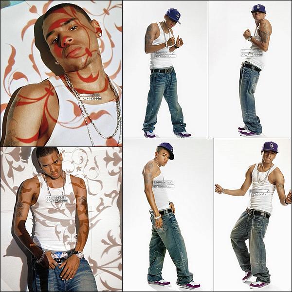 """. Superbe photoshoot de Breezy pour le magazine """"Billboard"""" datant de 2007.__Tu aimes ? ."""
