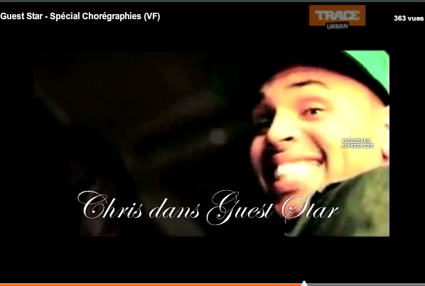 """. _News « Voici la video de l'émision """"Guest Star"""" de Trace TV ou Chris apparait. »____Ton avis ? Chris apparait vers 4min15 et vers la fin à 8min50. Pour accéder à la video cliqué sur l'image.  ."""