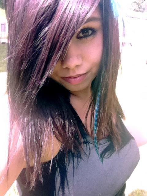 Nouvelle couleur de cheveux ! : Violet: (a)