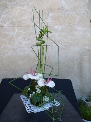 un cours à l'atelier floral de Nathalie