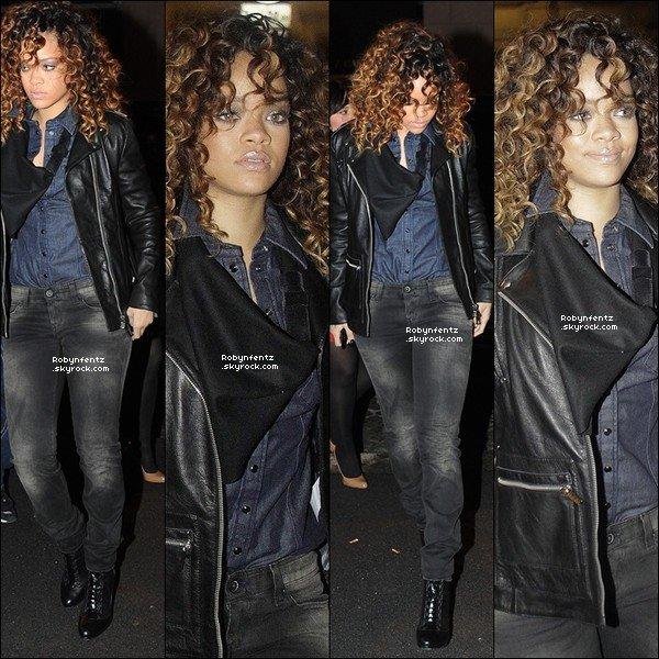 12.12  Rihanna se rendant à une afterparty dans une boutique Armani à Milan, Italie