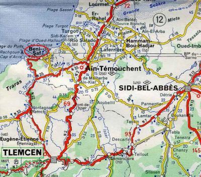 Carte Algerie Beni Saf.Carte De Beni Saf Site Dedie A Mon Bled Beni Saf A Tous