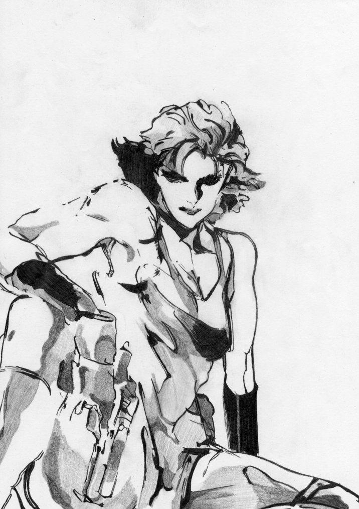 "Méryl, personnage tirée du jeu ""Métal Gear Solid"", 1er du nom."