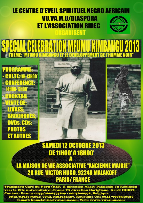 SPECIALE CELEBRATION MFUMU KIMBANGU 2013 A PARIS