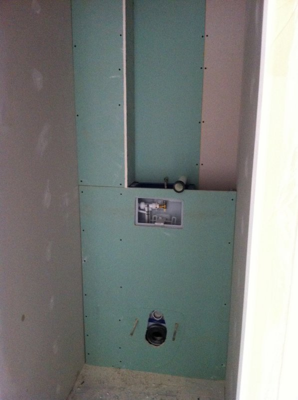 lundi 2 juillet 2012 habillage du premier wc suspendu. Black Bedroom Furniture Sets. Home Design Ideas