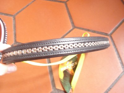 Frontal cuir taille cheval 8 euros