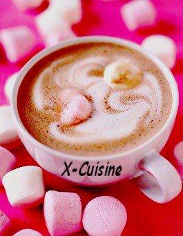Chocolat chaud aux guimauve
