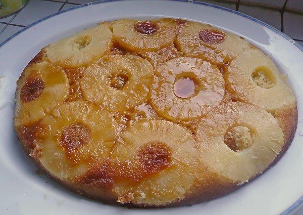 dessert a la crème de marrons et a l'ananas