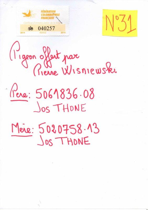 N°31 Princesse offerte par Pierre WISNIEWSKI 40257/14