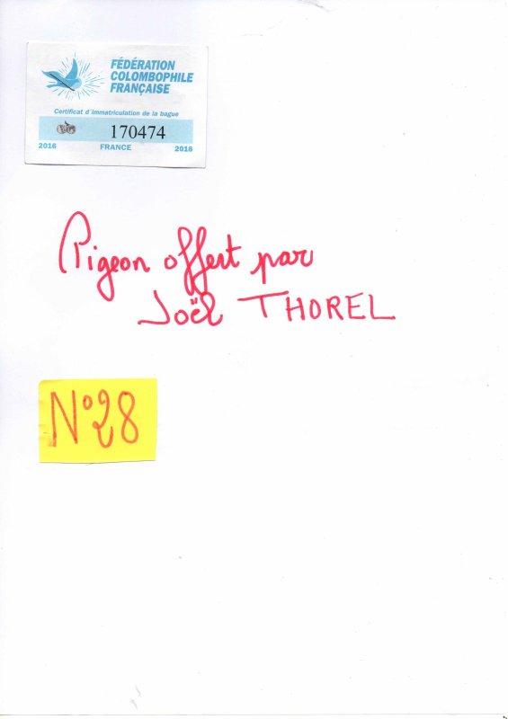 N°28 PRINCESSE OFFERTE PAR JOEL THOREL N°170474/16