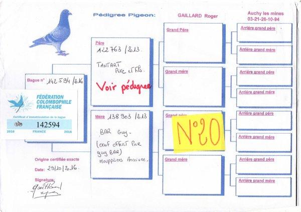 N°20 PRINCESSE OFFERTE PAR ROGER GAILLARD N°142594/16