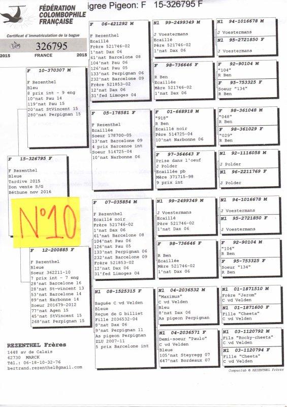 N°10 PRINCESSE OFFERTE PAR REZENTHEL FRERE N°326795/15