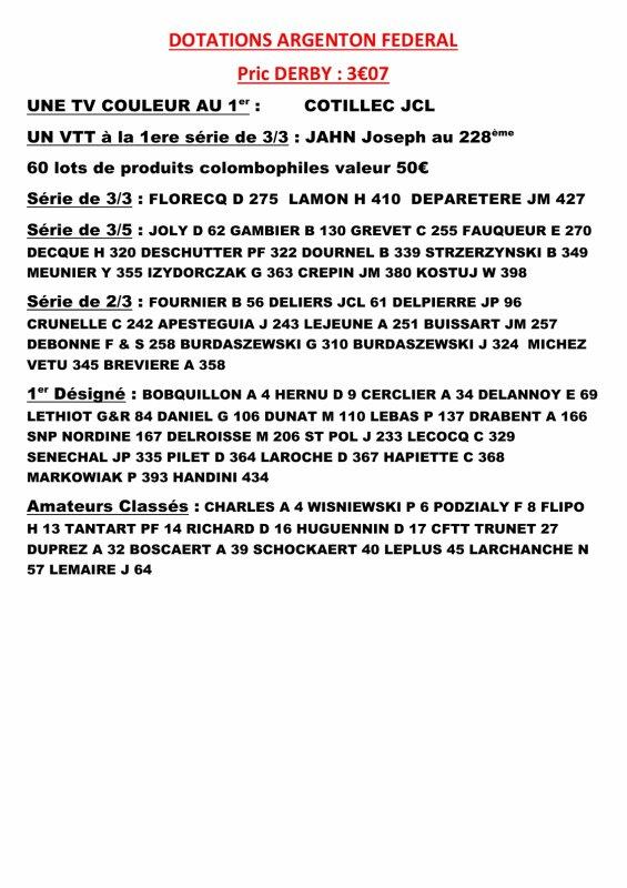 ARGENTON JEUNES FEDERAL PRIX DERBY 3.07¤