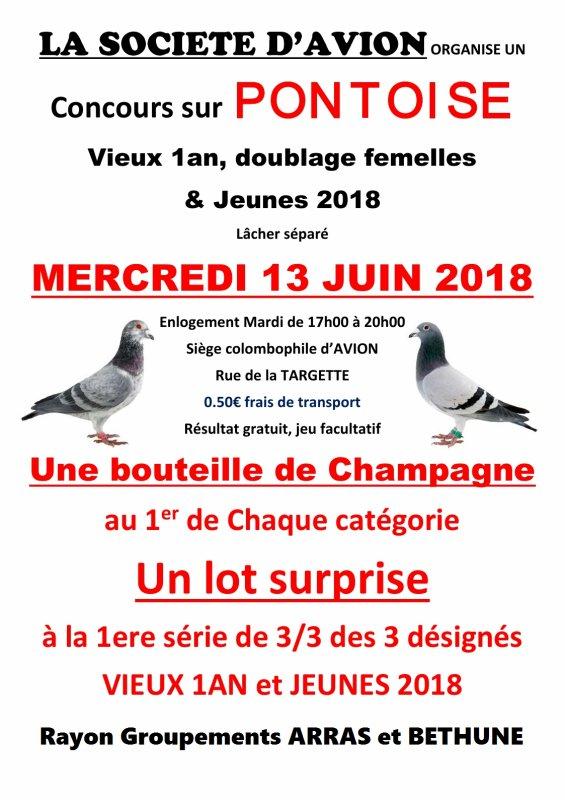 Concours invité réservé aux amateurs des Groupements d'ARRAS et BETHUNE