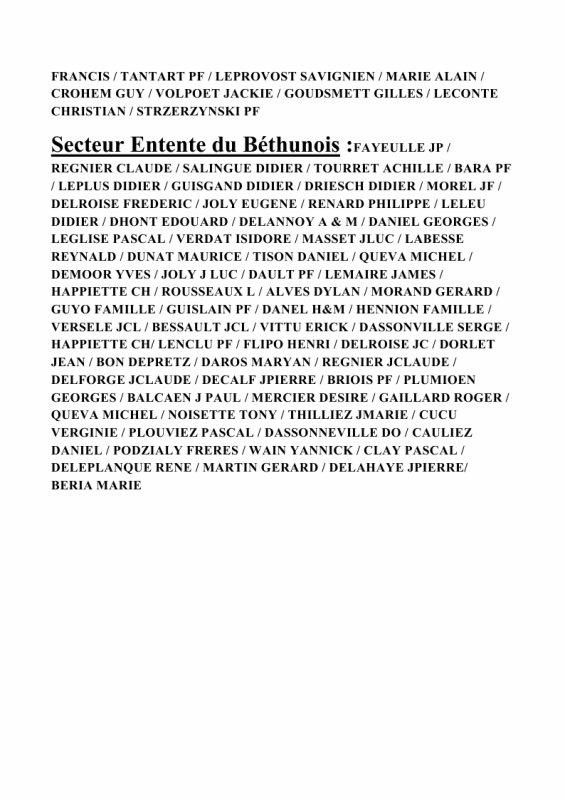Remise des Prix du groupement de Béthune du Dimanche 18/11/2018 à BARLIN