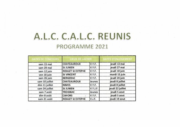 programme du CALC