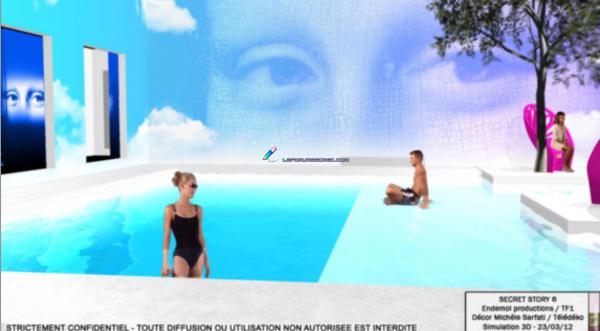 Le jardin côté piscine en photo 3D OFFICIELLE ! Regardez, c'est juste magnifique :