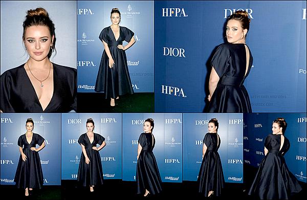 7 Septembre2019: ▬Katherine assistait à la soirée «HFPA»et HollywoodReporterlors du Festival internat. du film, CA. Elle porte la même robe de chez Dior puisque la soirée se déroulait après l'a-p du film. Pour ce qui est du make-up : Kesley Deenihan.