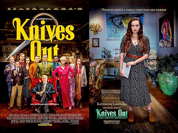 """▬Découvrez les deux affiches promotionnel du film """"À Couteaux Tirés"""" (Knives Out)"""