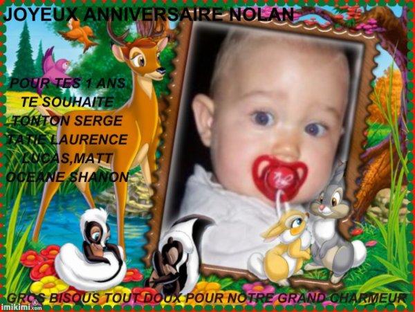 Joyeux Anniversaire Nolan Pour Tes 1 Ans Gros Bisous Mon Petit