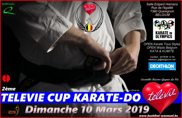 2ème OPEN TELEVIE CUP KARATE-DO & Open Wado Belgium