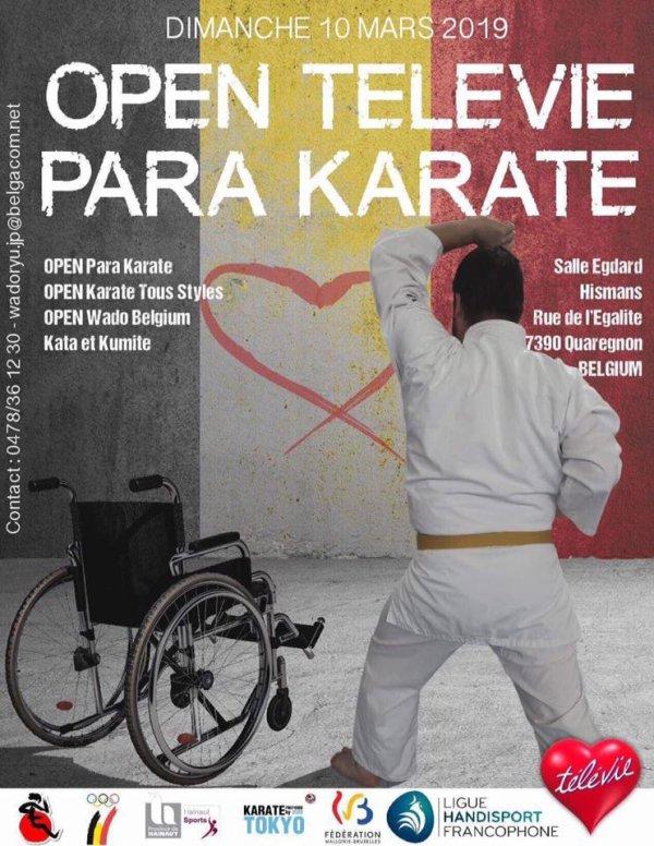 2ème TELEVIE CUP KARATE DO - Dimanche 10 Mars 2019 - Quaregnon