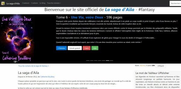Un nouveau site de fantasy pour la saga d'Aila