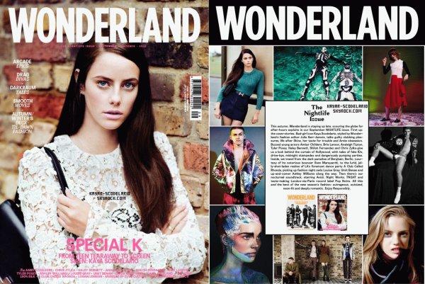 _ (Re)Découvrez le dernier photoshoot de Kaya pour le Wonderland Magazine dont elle fera la couverture du mois de Septembre._