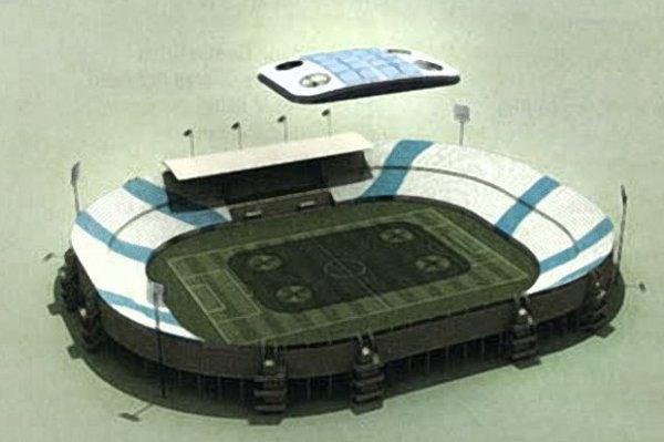 Nuage artificiel pour la coupe du monde 2022 au Quatar