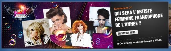 exclu mfetnous: le site de tf1 consacre encore une bannière aux nrj music awards avec mylène
