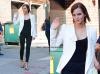 """Emma Watson arrive à l'émission """"The late show with David Letterman"""" (4 septembre)"""