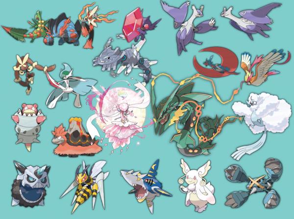 Pok mon rosa toutes les m ga evolutions blog de juton - Toute les evolution pokemon ...