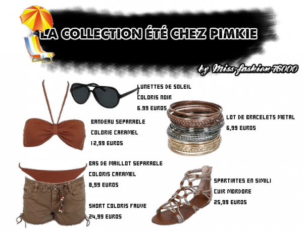 ta collection plage chez Pimkie