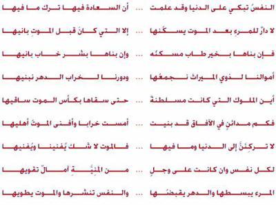 قصيدة للإمام علي بن لأبي طالب عليه السلام