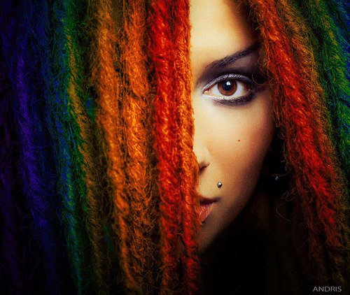 color ses dreads - Coloration Locks