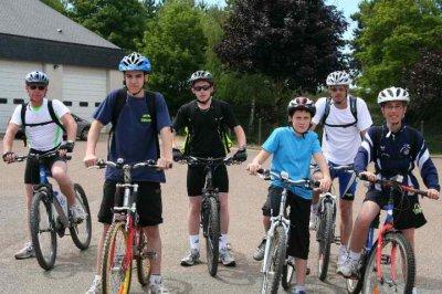 Sortie de 40km et 10 au retour en vélo !!!! Avec les pompiers!!! <3