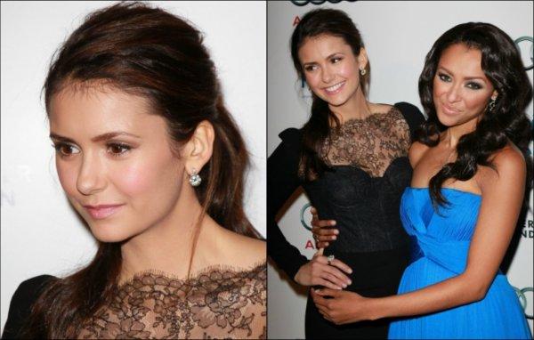 10 décembre 2011 ♣ Nina assistés à un évènement de charité tenu au « Sunset Luxe Hotel », à L.A.