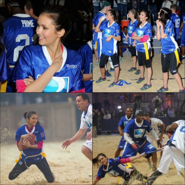 4 février 2012 ♣ Nina s'est rendu au 6éme Annuel Celebrity Beach Bowl organisé par DirecTV.