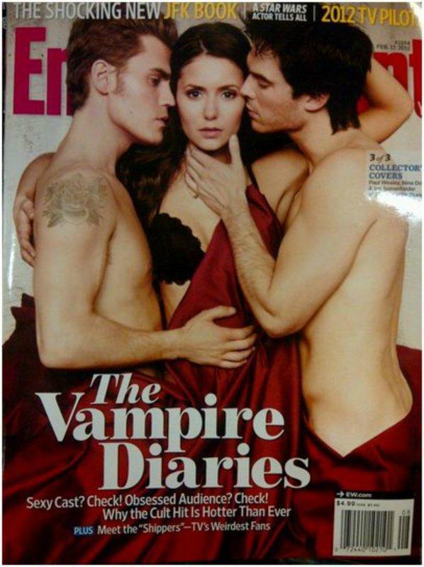 • Nina sera en couverture du magazine Entertainment Weekly avec Ian.S et Paul.W, dans ce magazine figurera aussi un shoot des ces trois acteurs. Voici un scan de la couverture.