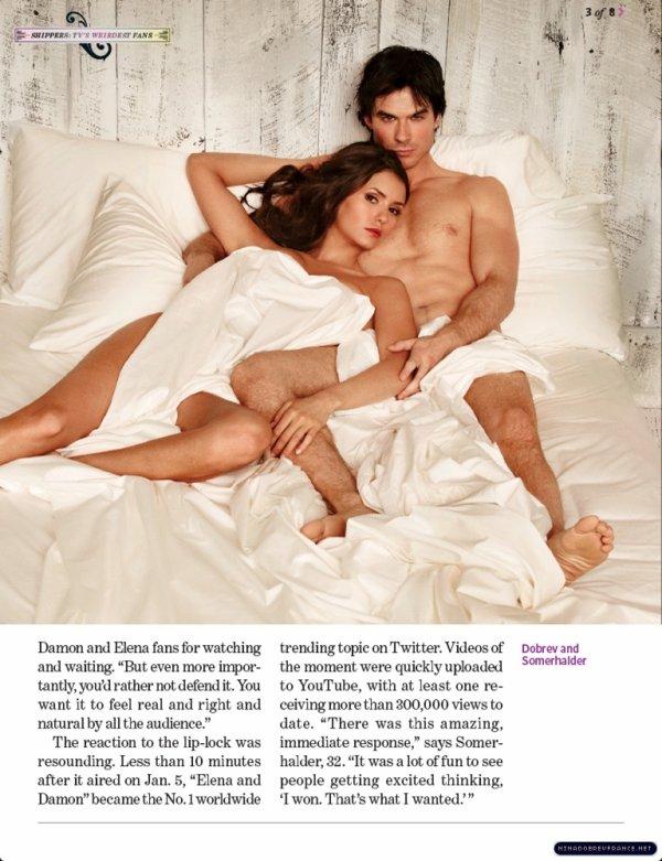• Voici les Scans du magazine 'EW'. Je vous avais fait partagez les photos mais les voilà avec leur contexte :).