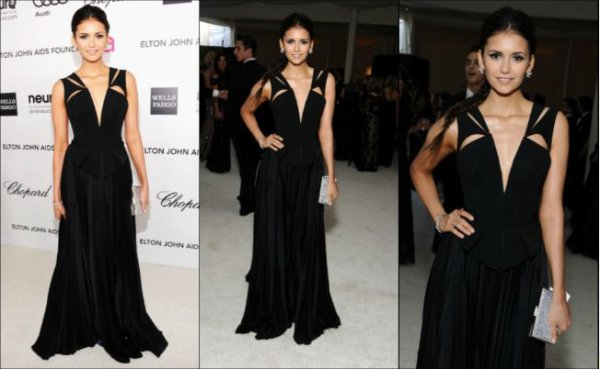 26 Février 2012 ♣ Nina est apparue sur le tapis rouge de l'évènement Elton John AIDS Foundation Academy Awards Party organisé au City of West Hollywood Park, à Beverly Hills en Californie.