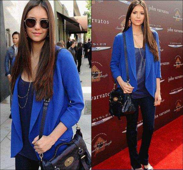 10 mars 2012 ♣ Nina  a été aperçu quittant l'hôtel Château Marmont aprés le panel pour le PaleyFest en compagne de Ian et de Candice.