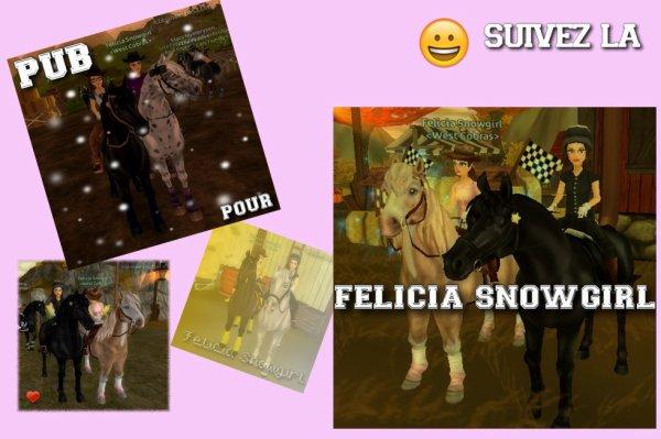 PUB pour Félicia Snowgirl