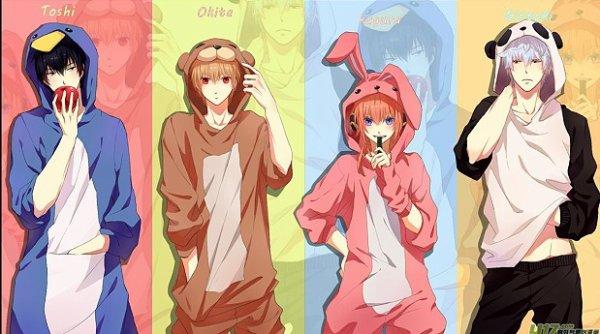 """~ Cute """"Pingouin, Ours, Lapin & Panda"""""""