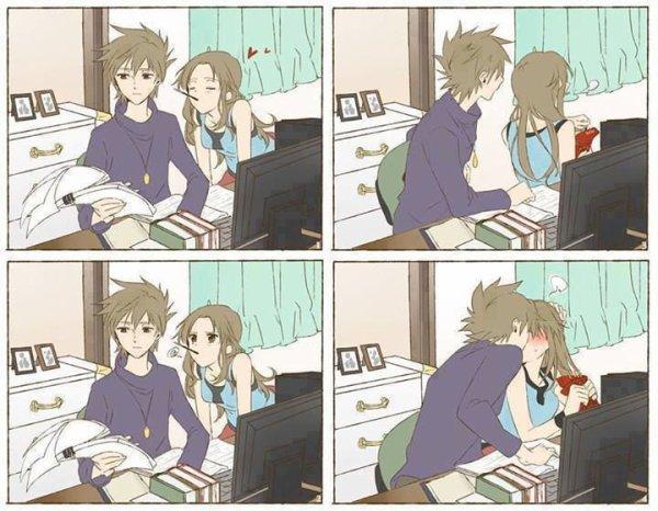 Scène cute kiss