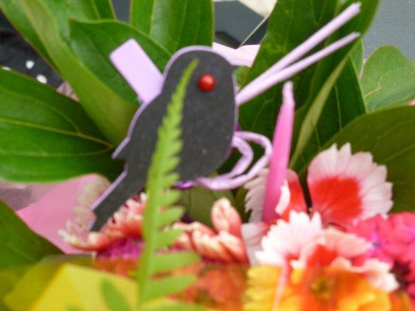 mes petits préparations  de fleurs piquer sur de la mousse !AVEC JUSTE UN PEU DE DECOS ACHETER