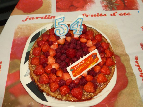 FIN AOÜT  mes derniers gâteaux fais pour l'anniversaire   de mon homme
