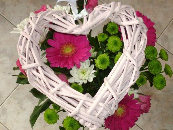 juste poser un coeur sur mon bouquet